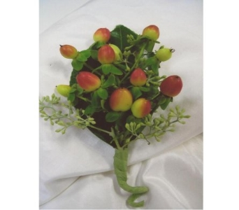 Hypericum Boutonniere in West Bloomfield MI, Happiness is...Flowers & Gifts
