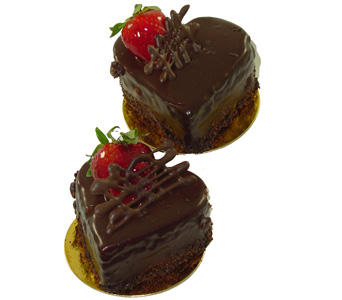 Six -Chocolate Personal Heart Cups in Baltimore MD, Raimondi's Flowers & Fruit Baskets