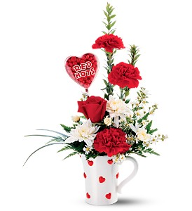 Teleflora's Red Hots Bouquet in Metter GA, The Flower Basket