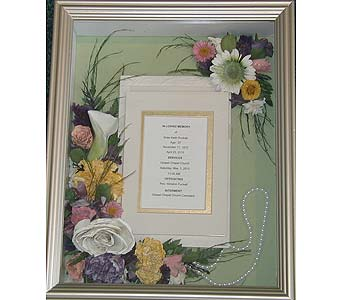Memorial Shadowbox in Middletown DE, Forget Me Not Florist & Flower Preservation