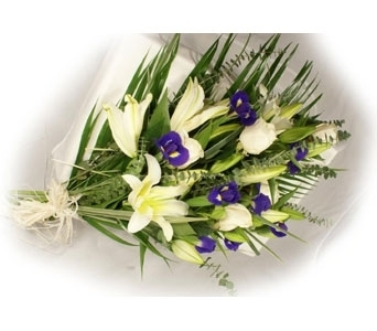 Roses, Lilies & Iris Bouquet in Norristown PA, Plaza Flowers