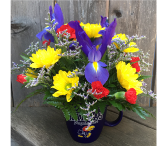 Jayhawk Mug Arrangement in Lawrence KS, Owens Flower Shop Inc.