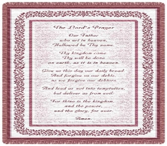 Lord''s Prayer Tapestry Throw in Columbus OH, OSUFLOWERS .COM