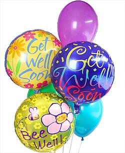 Get Well Soon Balloon Bouquet in Port St Lucie FL, Flowers By Susan