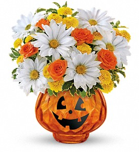 Teleflora's Glass-O'-Lantern Bouquet in Butte MT, Wilhelm Flower Shoppe