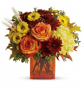 Teleflora's Autumn Expression in Lewiston ME, Val's Flower Boutique, Inc.