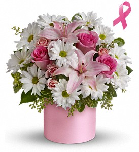 Teleflora's Pink Hope and Courage Bouquet in Miami Beach FL, Abbott Florist