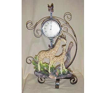 Girraffe Clock in West Helena AR, The Blossom Shop & Book Store