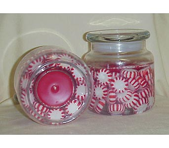 Peppermint Candle 14 oz. in West Helena AR, The Blossom Shop & Book Store