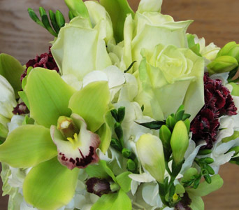 Green and White Bouquet in Baltimore MD, The Flower Cart, Inc