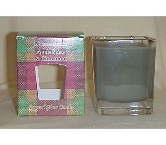 Greenleaf Poured Glass Candle in West Helena AR, The Blossom Shop & Book Store