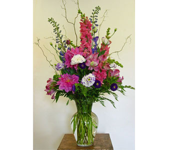 Summer Purples and Pinks in Amherst NY, The Trillium's Courtyard Florist