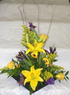 Purple & Gold Elegance Bouquet in Lake Charles LA, A Daisy A Day Flowers & Gifts, Inc.