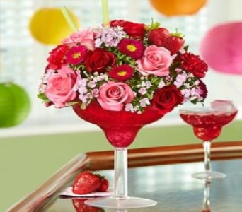 Strawberry Floral Margarita  in Corpus Christi TX, Always In Bloom Florist Gifts