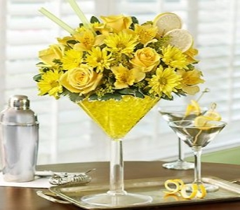 Martini Bouquet� - Lemon Drop in Corpus Christi TX, Always In Bloom Florist Gifts