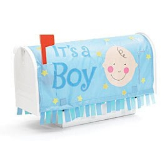 It''s A Boy Mailbox Cover in Cleves OH, Nature Nook Florist & Wine Shop