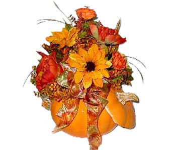 Artificial Pumpkin Centerpiece in Oklahoma City OK, Array of Flowers & Gifts