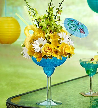 Blue Hawaiian Floral Margarita in Bradenton FL, Ms. Scarlett's Flowers & Gifts