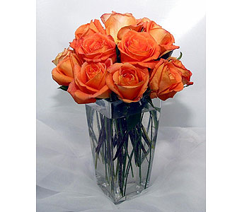Simply orange in San Antonio TX, Blooming Creations Florist