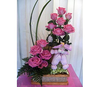 For baby girl in San Antonio TX, Blooming Creations Florist