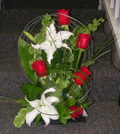 Red & White Splendor Bouquet in Lake Charles LA, A Daisy A Day Flowers & Gifts, Inc.