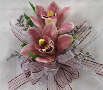 Elongated Cybidium Corsage in Kennewick WA, Heritage Home Accents & Floral