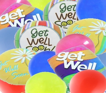 Get Well Balloon Bouquet in El Paso TX, Kern Place Florist