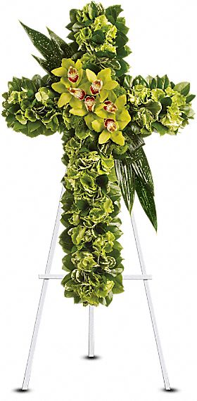 Heaven''s Comfort Cross in Staten Island NY, Kitty's and Family Florist Inc.