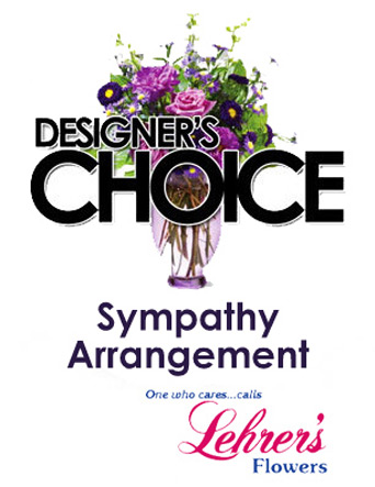 Designer''s Choice Sympathy Arrangement in Denver CO, Lehrer's Flowers