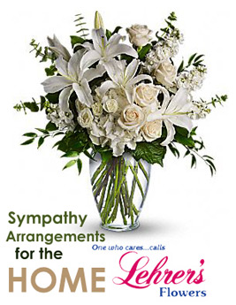 Sympathy Arrangement for the Home or Service in Denver CO, Lehrer's Flowers