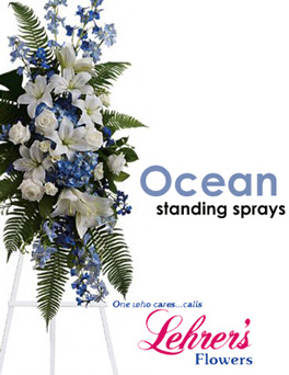 Ocean Standing Sprays in Denver CO, Lehrer's Flowers