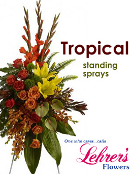 Tropical Standing Spray in Denver CO, Lehrer's Flowers