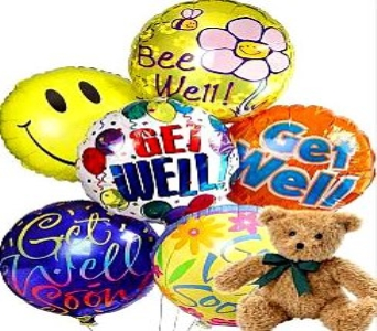 Get Well Teddy & Balloon Bouquet in El Paso TX, Kern Place Florist