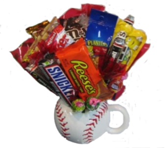 Baseball Candy Bouquet in Columbus OH, OSUFLOWERS .COM