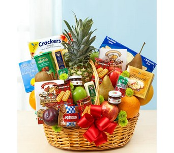 Deluxe Fruit & Gourmet Basket in Concord CA, Jory's Flowers
