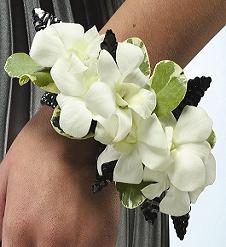 Pure White Orchid Corsage in Perrysburg & Toledo OH - Ann Arbor MI OH, Ken's Flower Shops