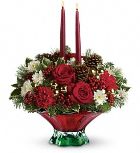 Teleflora's Always Merry Centerpiece in Kent OH, Richards Flower Shop