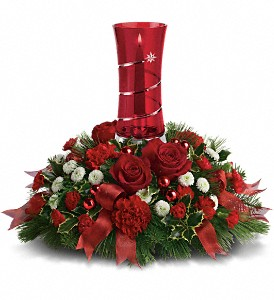 Teleflora's Star Bright Centerpiece in Attalla AL, Ferguson Florist, Inc.