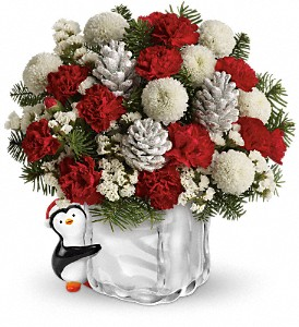 Teleflora's Merry Penguin Send a Hug in Union City CA, ABC Flowers & Gifts