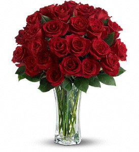 Love and Devotion - Long Stemmed Red Roses in Merced CA, A Blooming Affair Floral & Gifts