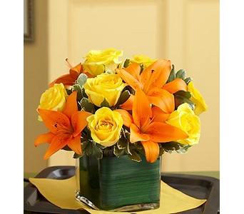Fall Rose and Lily Bouquet in Concord CA, Jory's Flowers