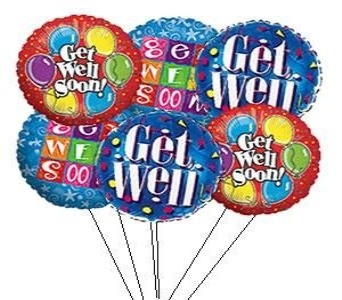 Get Well Soon Balloon Bouquet in Greenville SC, Expressions Unlimited
