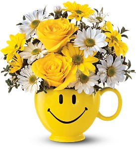 Be Happy Mug in Bradenton FL, Ms. Scarlett's Flowers & Gifts