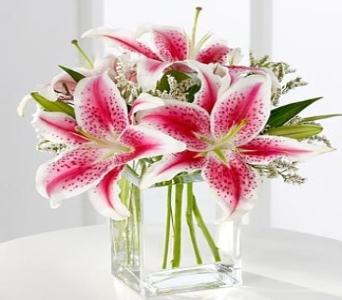 Pink Lily Bouquet in Waltham MA, Waltham's Florist