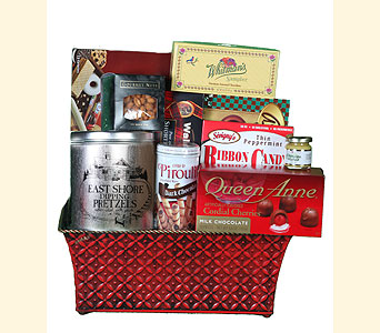 Gourmet Basket In Metal Tin in Southampton PA, Domenic Graziano Flowers