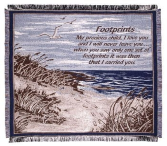 Footprints Inspirational Throw in Indianapolis IN, George Thomas Florist