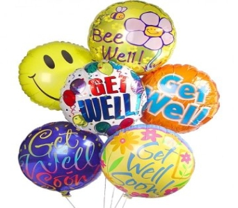 Get Well Balloon Bouquet (6) in New Haven CT, The Blossom Shop