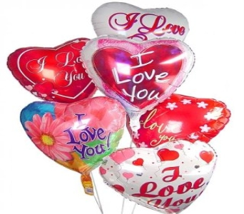 Love Balloon Bouquet (6) in New Haven CT, The Blossom Shop