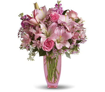 Pink Pink Bouquet in Norristown PA, Plaza Flowers