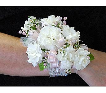 Mini Carnation Corsage in Towson MD, Radebaugh Florist and Greenhouses
